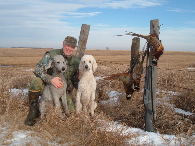 Gary, a retired cnservation ward who trains and hunts with Standard